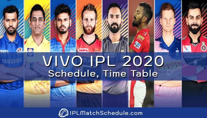 Dream11 IPL 2021 Schedule