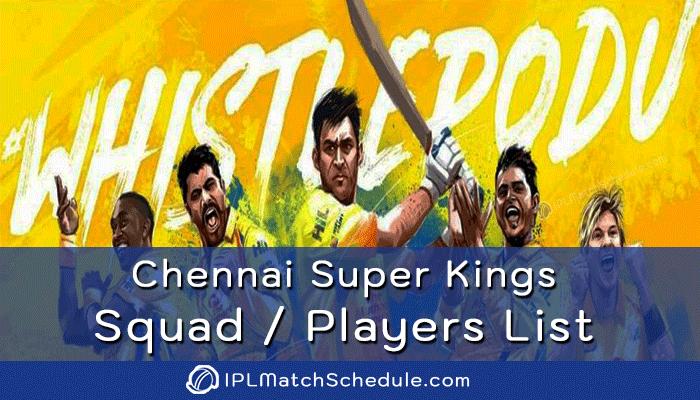 ipl 2021 chennai super kings players list