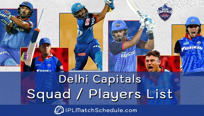 ipl 2021 delhi capitals players list