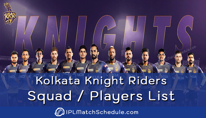 ipl 2021 kolkata knight riders players list