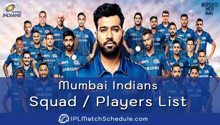 ipl 2021 mumbai indians players list