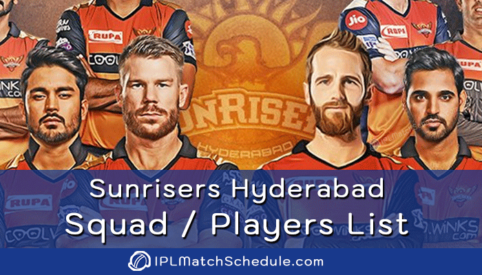 ipl 2021 sunrisers hyderabad players list